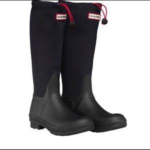 Hunter rain boots Size 6 Original Tour Neoprene